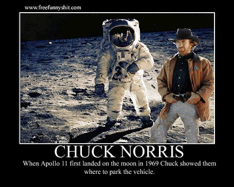 When Apollo 11 first landed on the moon in 1969 Chuck showed them where to park the vehicle.