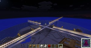 The walkways are built now it's time to start construction on the Main Tower of my Minecraft‬ Ocean City
