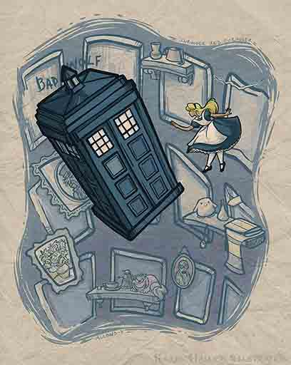 Doctor Who and Alice in Wonderland