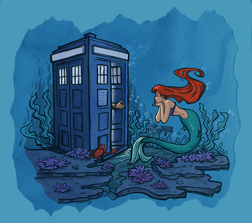 Doctor Who and The Little Mermaid Arial
