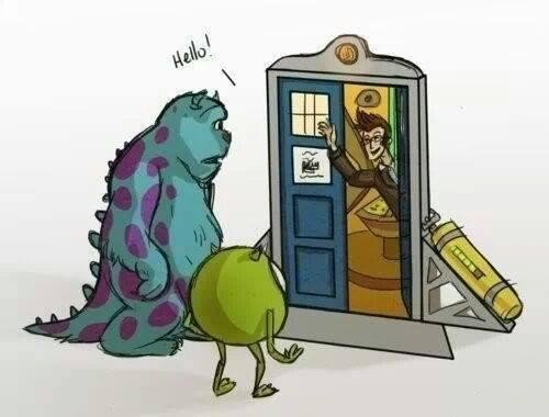 Doctor Who at Monsters Inc