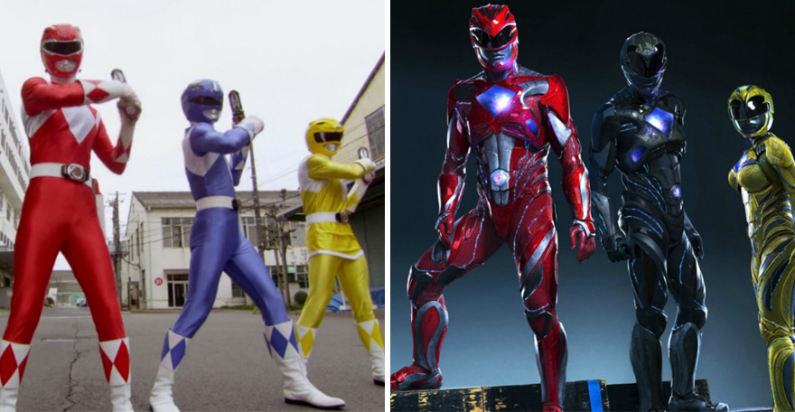 Mighty Morphing Power Rangers 1993 vs 2017