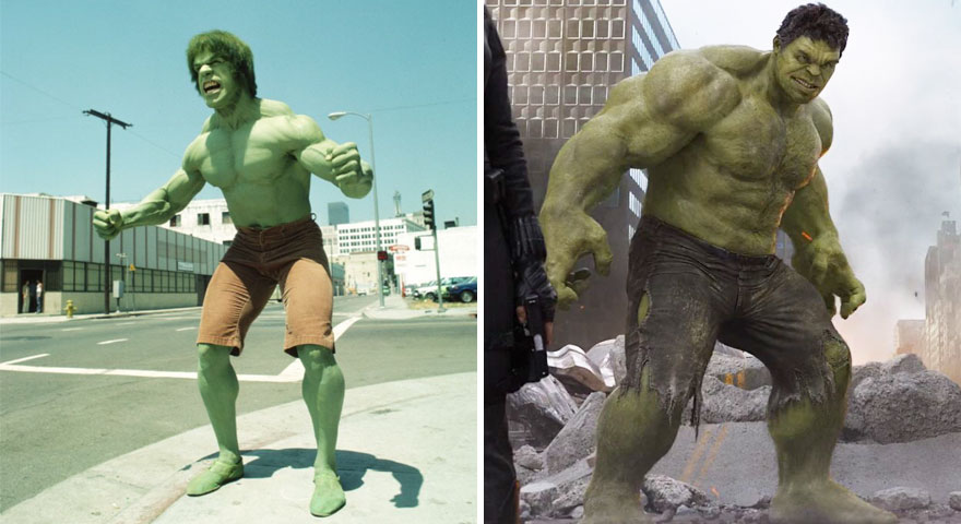 The Hulk 1978 vs 2012