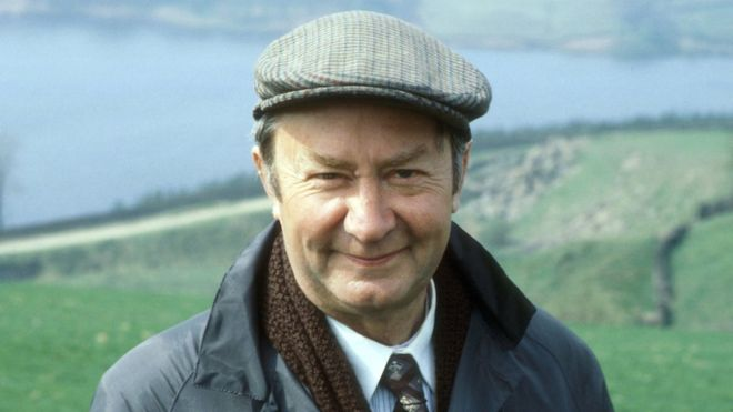 Peter Sallis became a household name in the UK in the comedy Last Of The Summer Wine