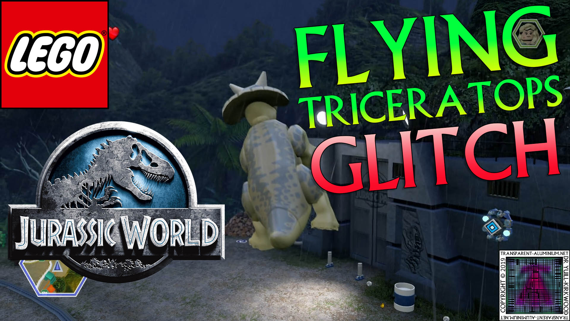LEGO Jurassic World: Flying Triceratops Glitch | Transparent