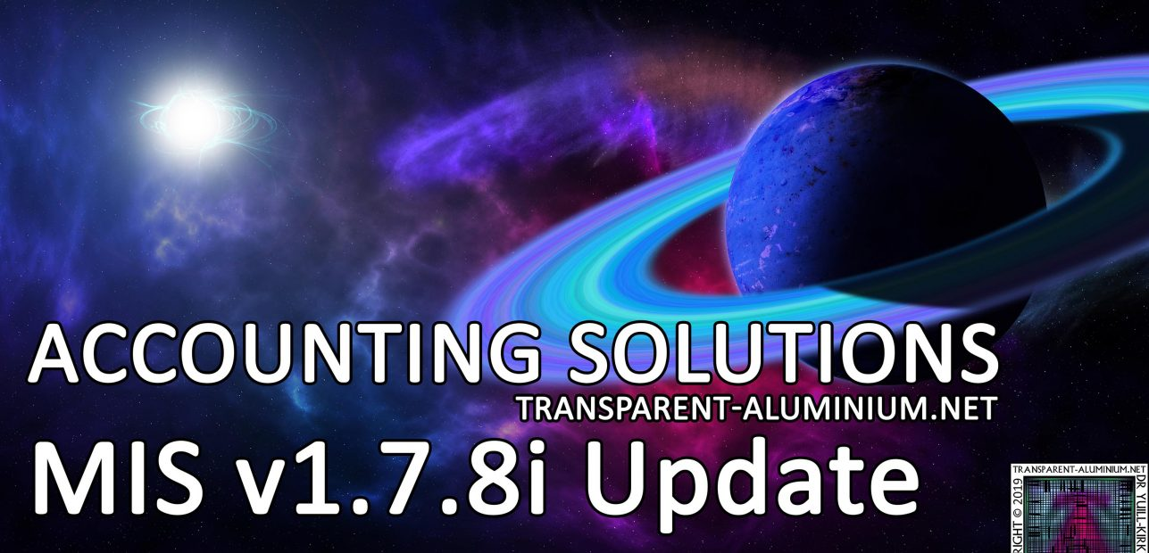 Accounting Solutions: MIS v1.7.8i Update