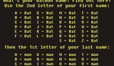 Picture Imp: Your Batman Name