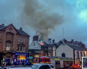 Fire On The Main Street of Appleby
