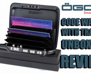 ÖGON Designs Code Wallet With TrackR Unboxing & Review