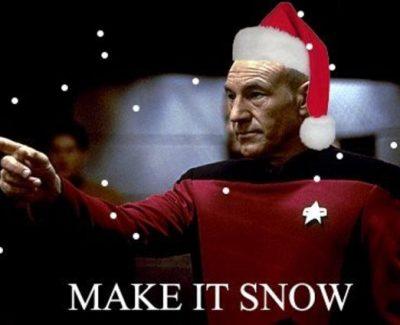 """""""Let it Snow!"""" Captain Picard"""