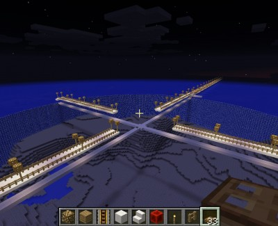 Minecraft – Ocean City Construction Progress