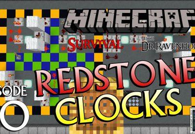Minecraft Survival: Episode 60 – Redstone Clocks