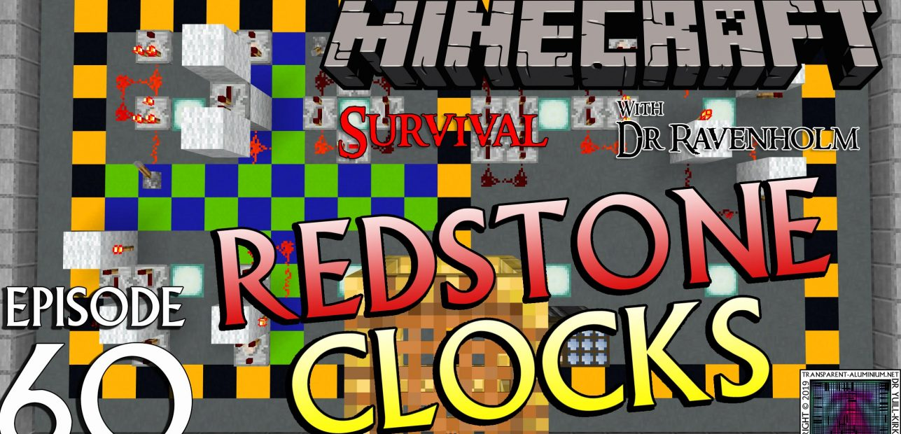 Minecraft Survival: Episode 60 – Redstone Clocks