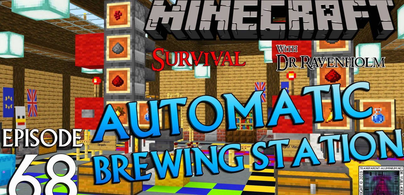 Minecraft Survival: Episode 68 – Automatic Potion Brewing Station for Bedrock/Pocket Edition