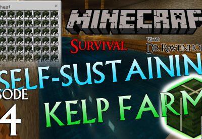 Minecraft Survival: Episode 14 – Self-Sustaining Kelp Farm