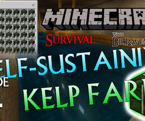 Minecraft Survival: Episode 14 – Self-Sustaining Kelp Farm