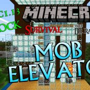 Minecraft Survival: Episode 21 – Bedrock Aquatic Mob Elevator 1.13