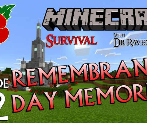 Minecraft Survival: Episode 22 – Remembrance Day Memorial