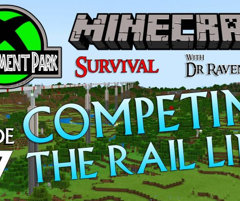 Minecraft Survival: Episode 47 – Completing The Rail Line (Achievement Park)