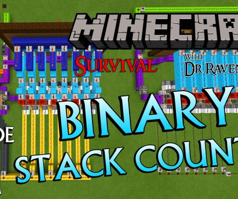 Minecraft Survival: Episode 61 – Redstone Binary Stack Counter