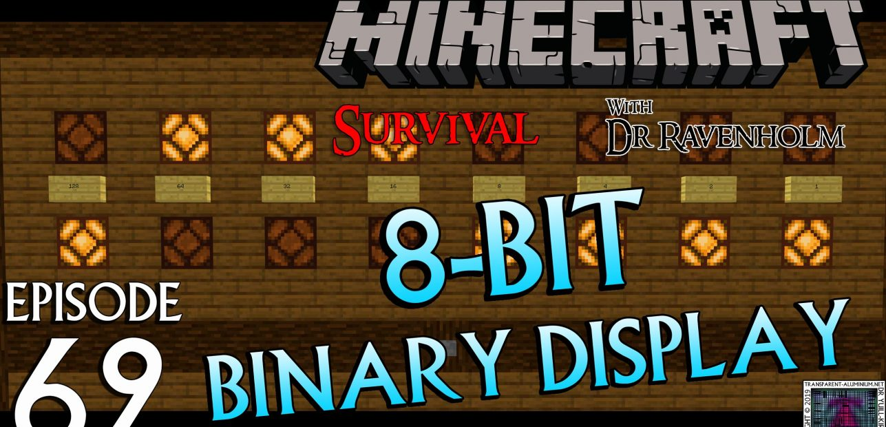 Minecraft Survival: Episode 62 – 8-Bit Binary Redstone Display