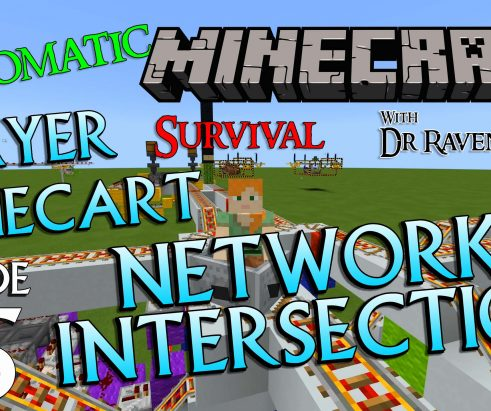 Minecraft Survival: Episode 65 – Automatic Player Minecart Network Intersection