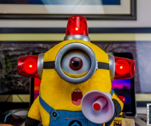 Talking Plush Fireman Minion Toy – Photos