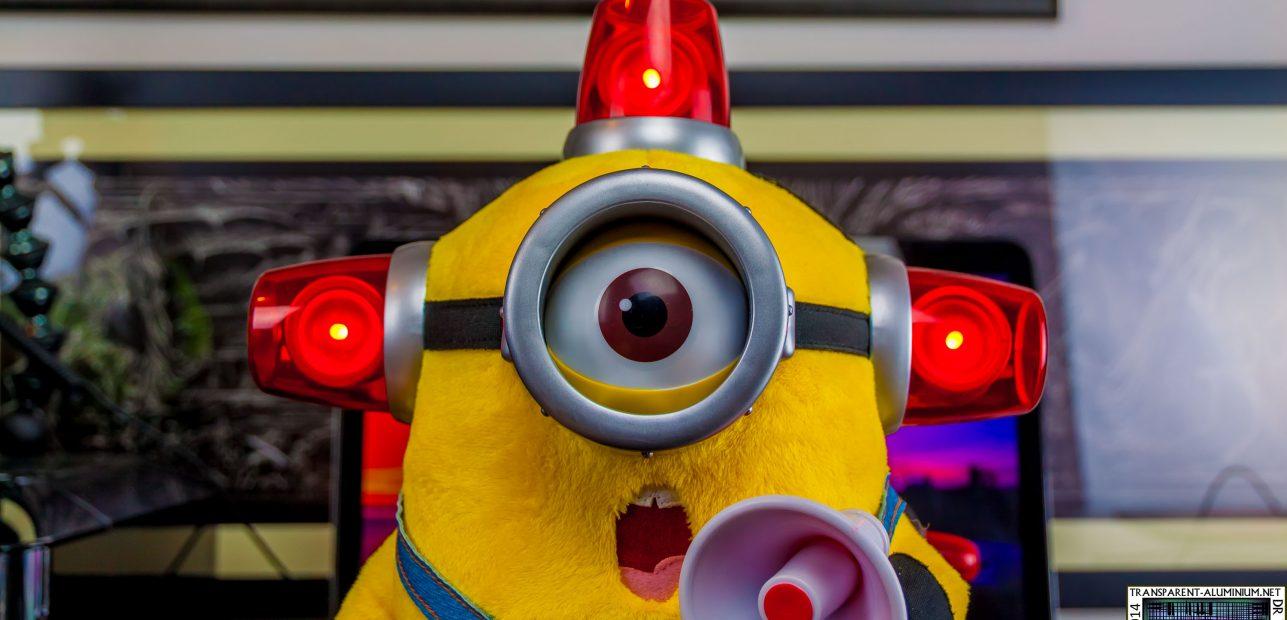 Talking Plush Fireman Minion Toy – Photos