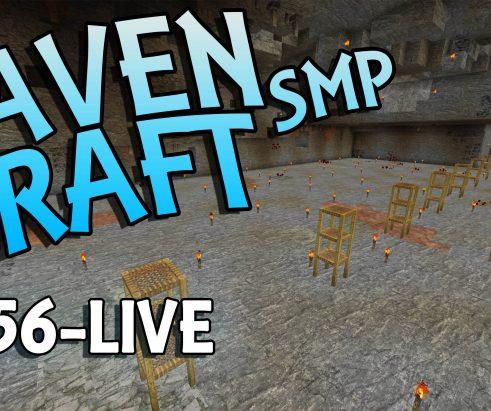 RavenCraft E056 – Building a TNT Tunnel Bore – 1.16.5