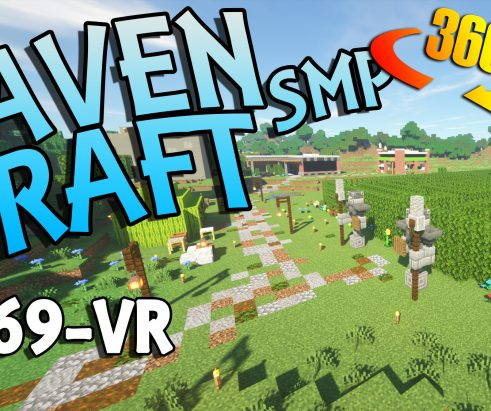 RavenCraft E069 – Spawn and Shopping District Tour 360 VR – 1.17.1
