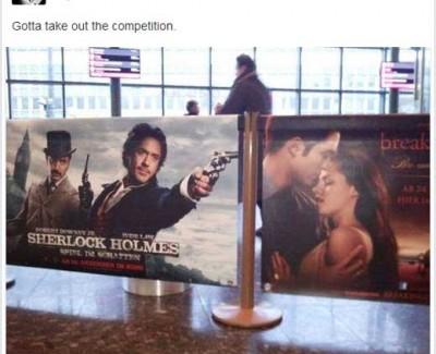 Picture Imp: Sherlock Shooting Twilight