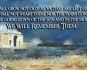 Remembrance Day 2018 – We Will Remember Them