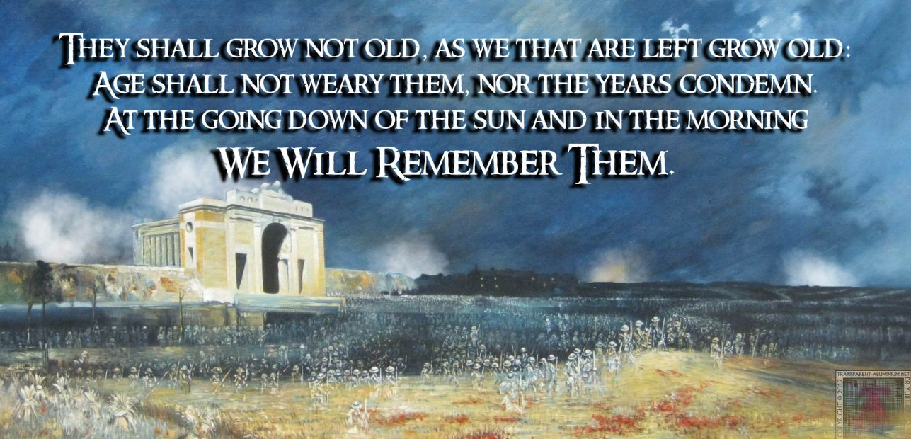 Remembrance Day – We Will Remember Them